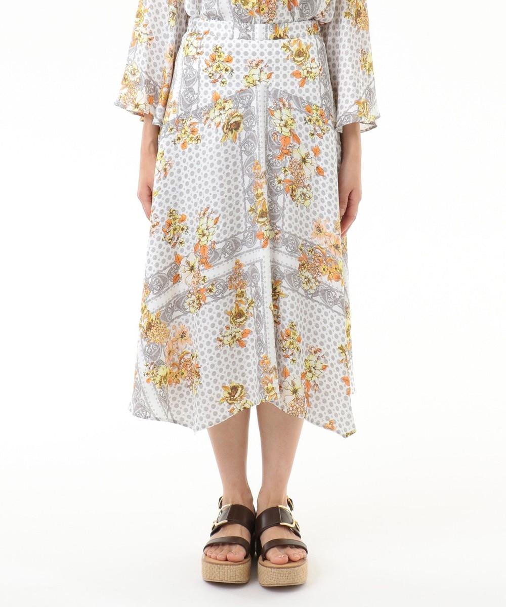 バンダナフラワープリントスカート
