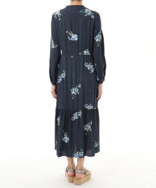 GRACE CONTINENTAL 刺繍JQワンピース ネイビー