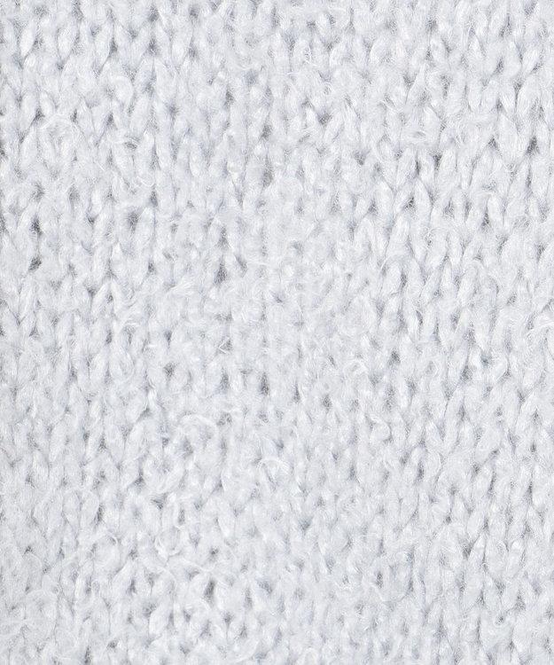GRACE CONTINENTAL シルクローゲージニットカーディガン サックス