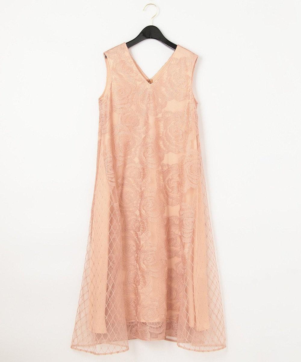 GRACE CONTINENTAL ローズembコンビドレス ピンク