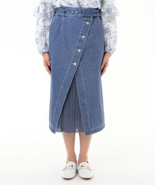 レイヤードデニムスカート