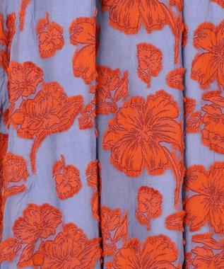 GRACE CONTINENTAL フラワーカットJQスカート オレンジ