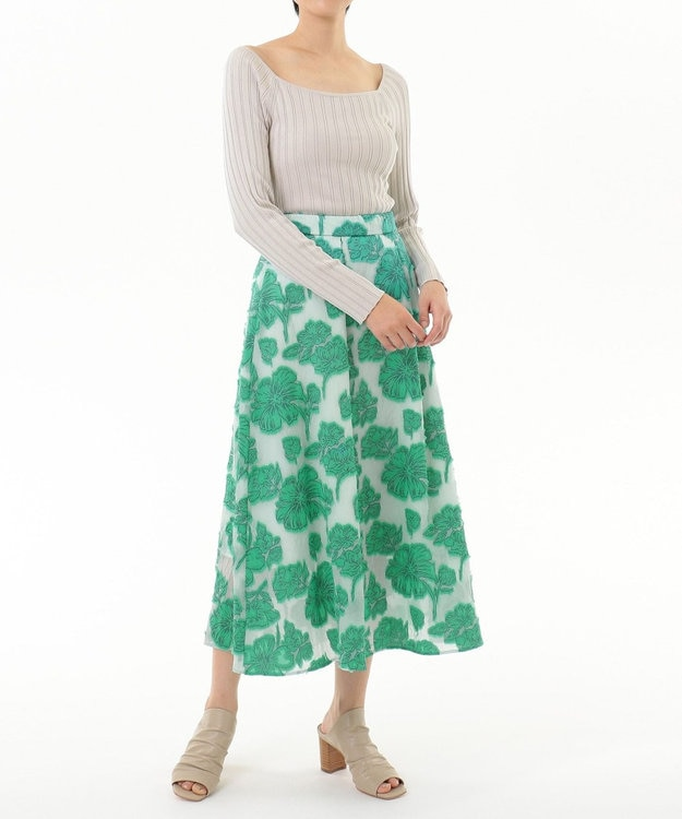 GRACE CONTINENTAL フラワーカットJQスカート