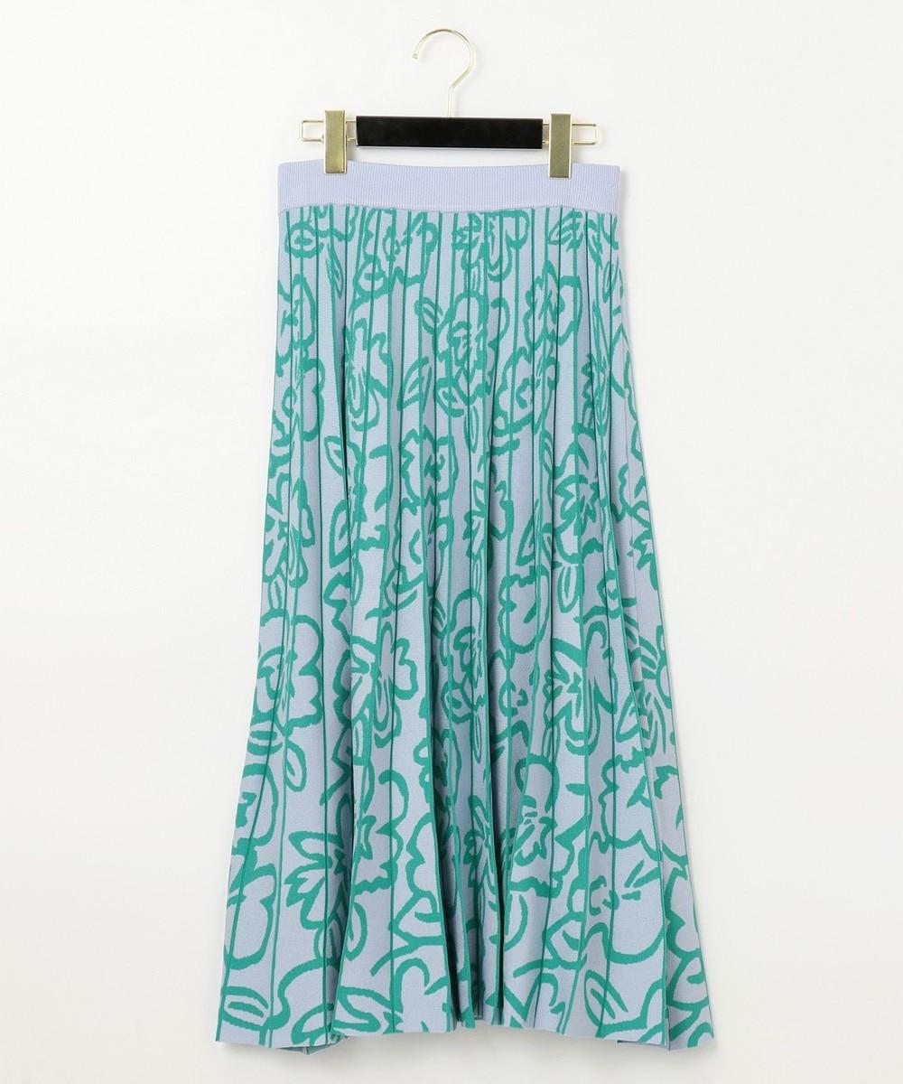 フラワーニットスカート