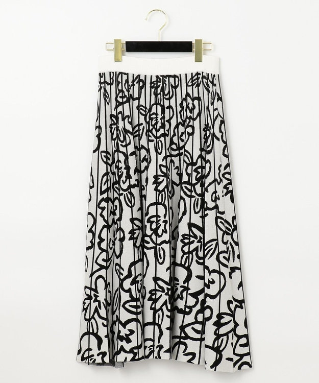 GRACE CONTINENTAL フラワーニットスカート