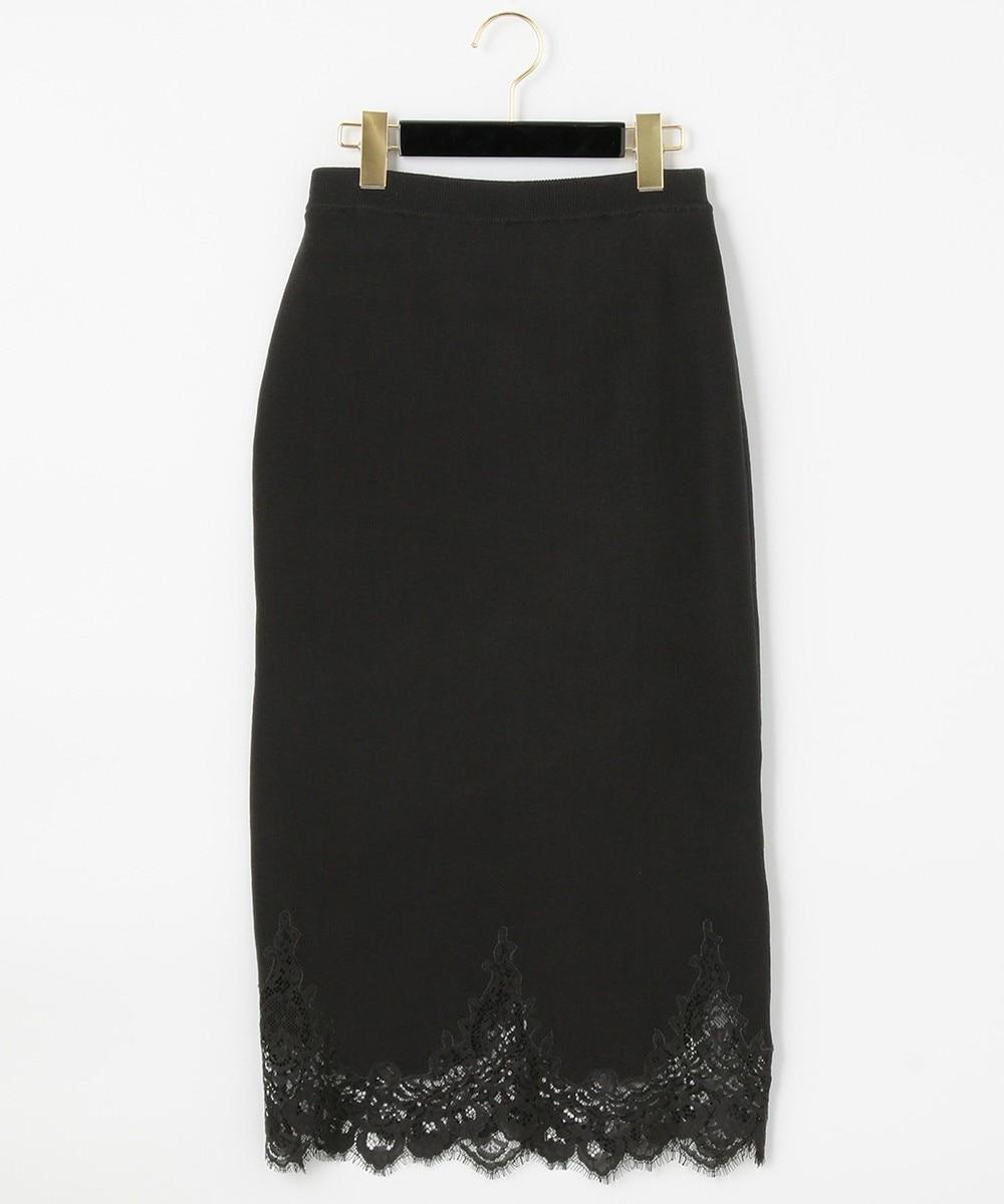 ヘムレースニットスカート