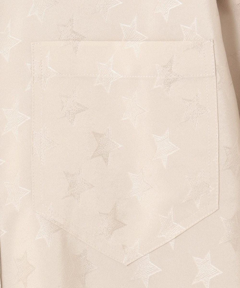 GRACE CONTINENTAL スター刺繍シャツワンピース ベージュ