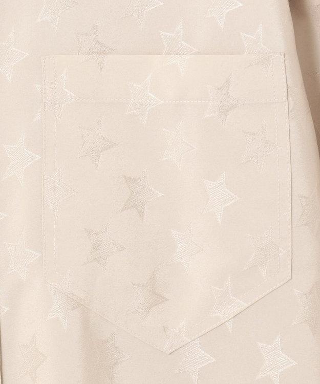 GRACE CONTINENTAL スター刺繍シャツワンピース