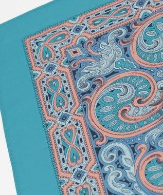 GRACE CONTINENTAL ペイズリースカーフ ブルー