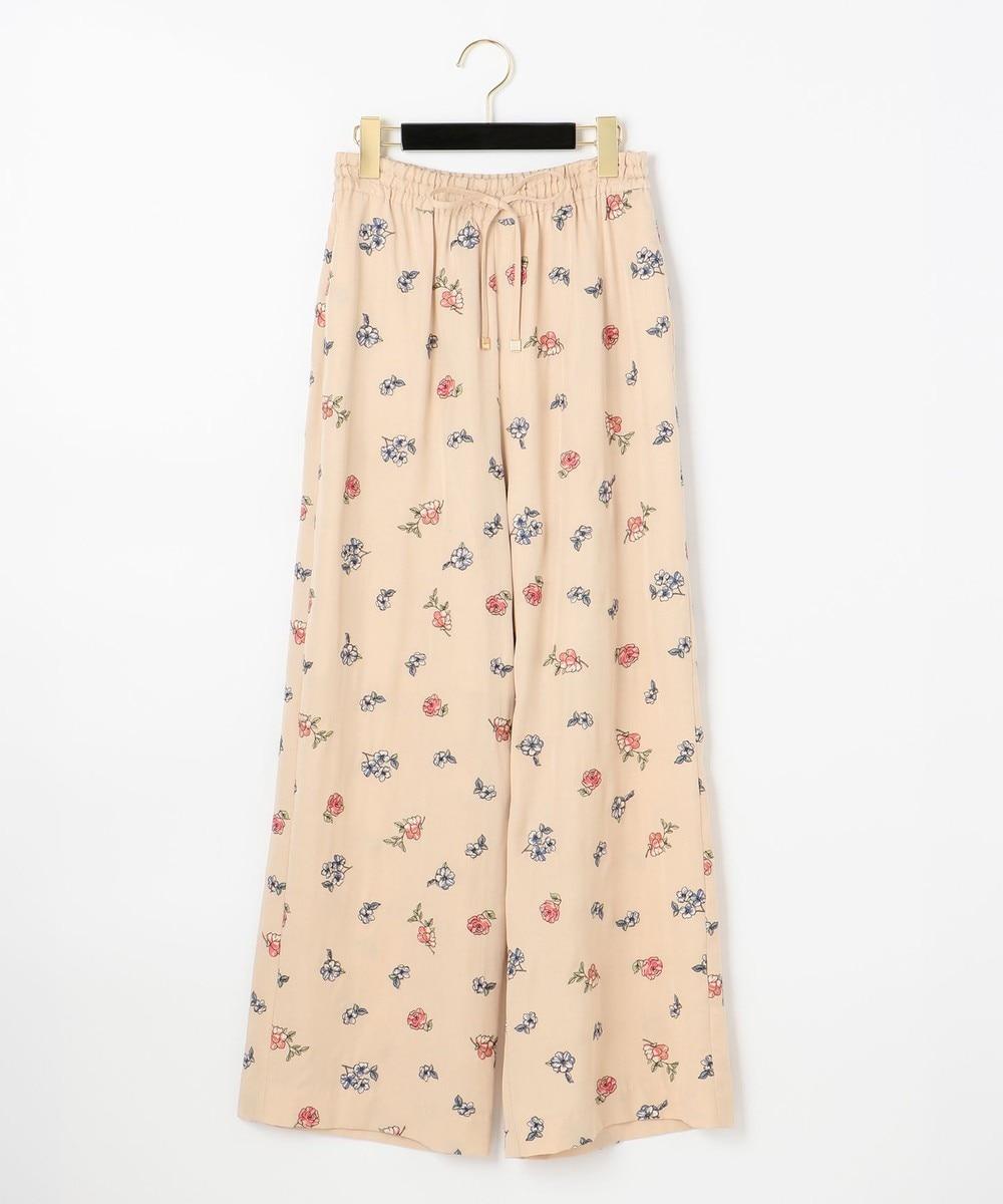 小花刺繍イージーパンツ