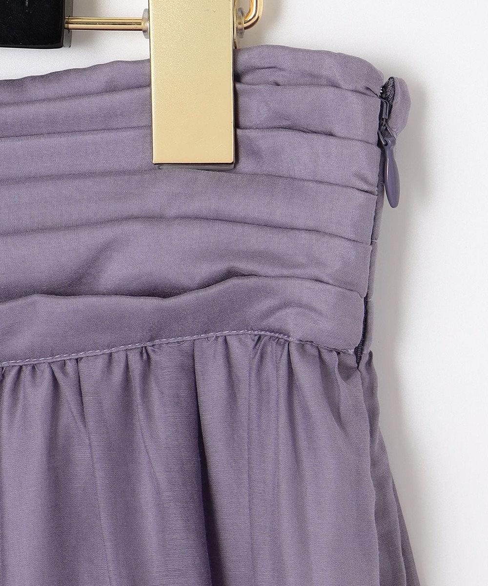 GRACE CONTINENTAL シルク綿フレアスカート パープル