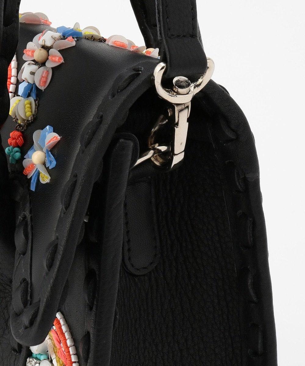 GRACE CONTINENTAL mini MS マルチ刺繍バッグ ブラック