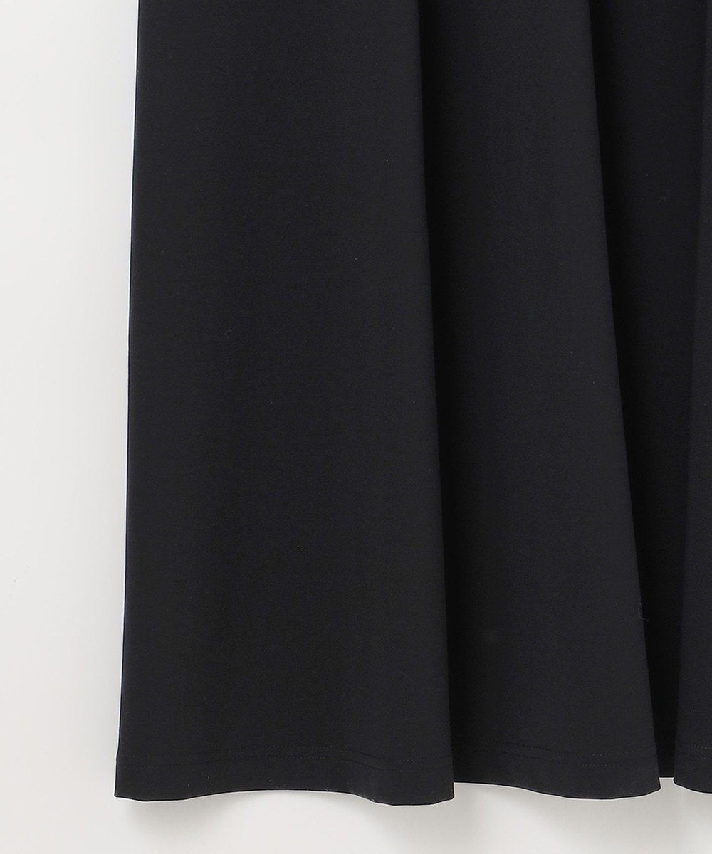 GRACE CONTINENTAL ベルテッドジャージワンピース ブラック