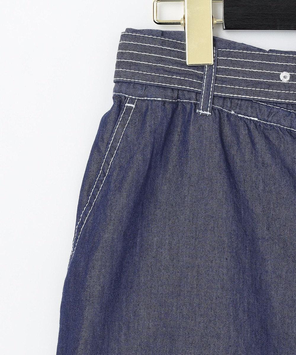 GRACE CONTINENTAL ベルト付デニムパンツ インディゴ