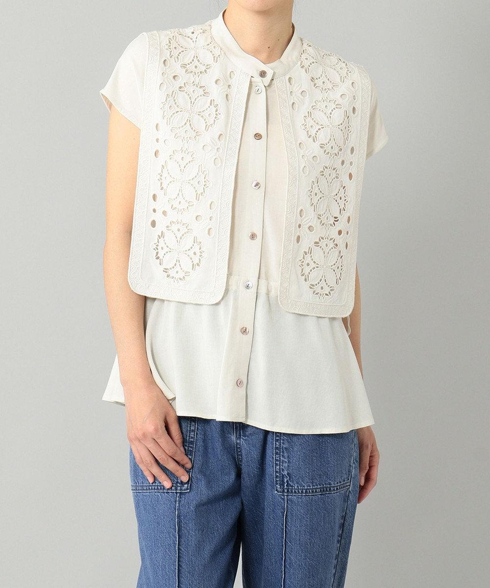 GRACE CONTINENTAL レイヤード刺繍ブラウス キナリ