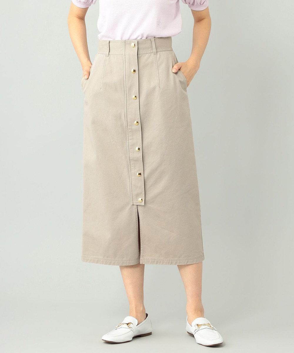 GRACE CONTINENTAL ミディタイトスカート ベージュ