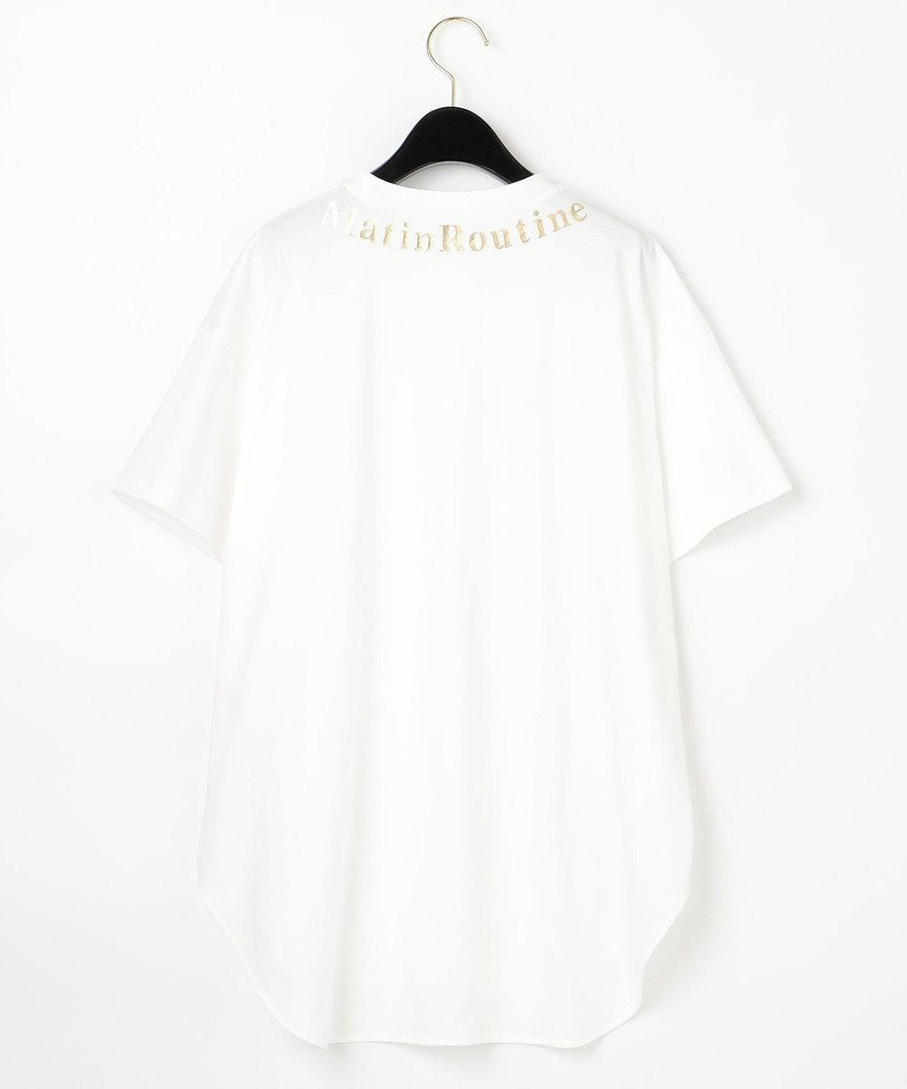 GRACE CONTINENTAL 【LIFE STYLE WEAR】ロゴプリントトップ ホワイト