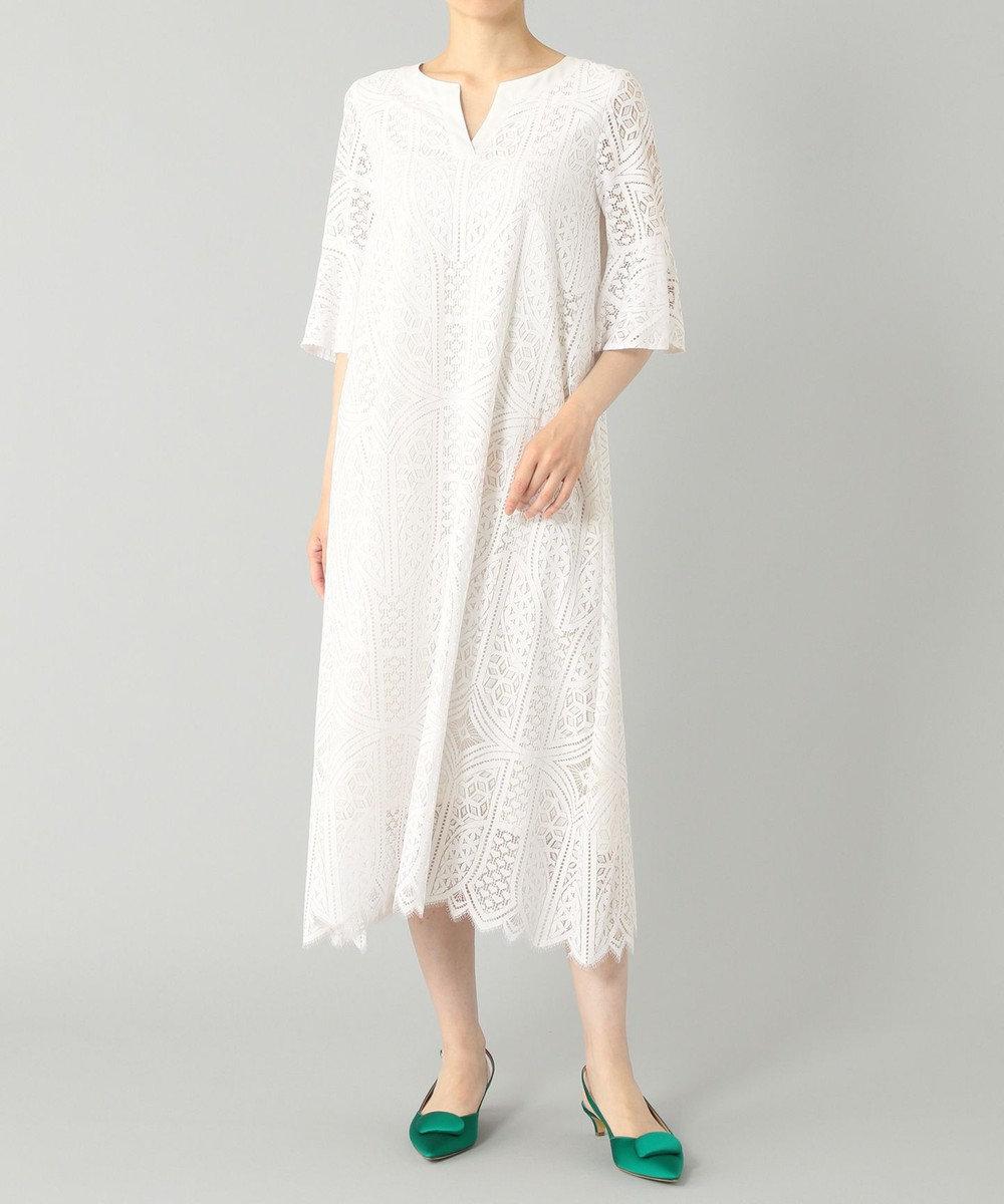 GRACE CONTINENTAL カフタンレースドレス ホワイト