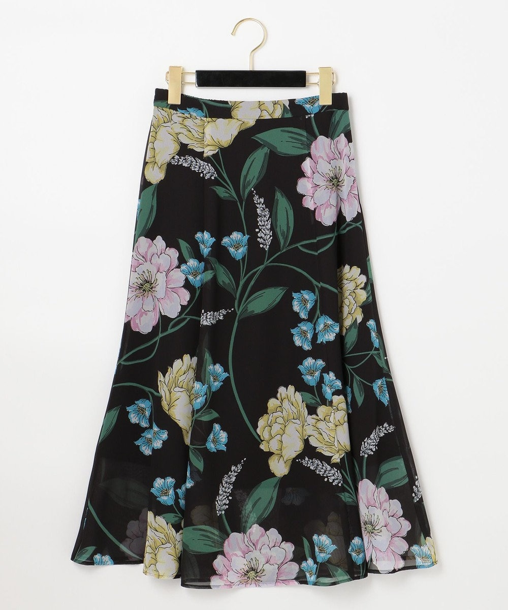 GRACE CONTINENTAL マルチボタニカルスカート ブラック