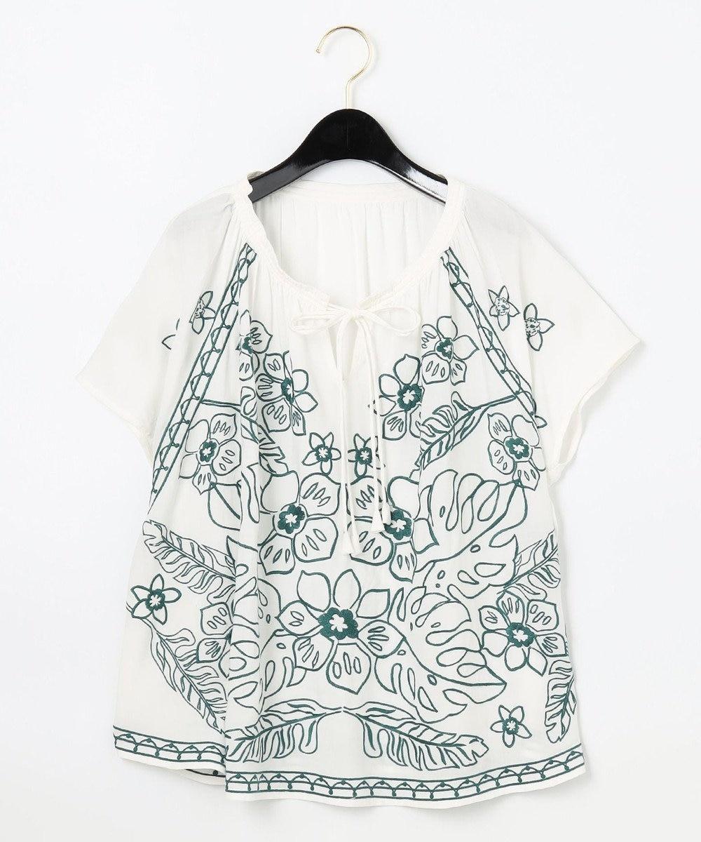 GRACE CONTINENTAL エスニック刺繍トップ キナリ