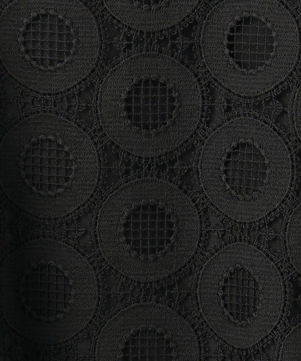 GRACE CONTINENTAL ドットケミカルレーストップ ブラック