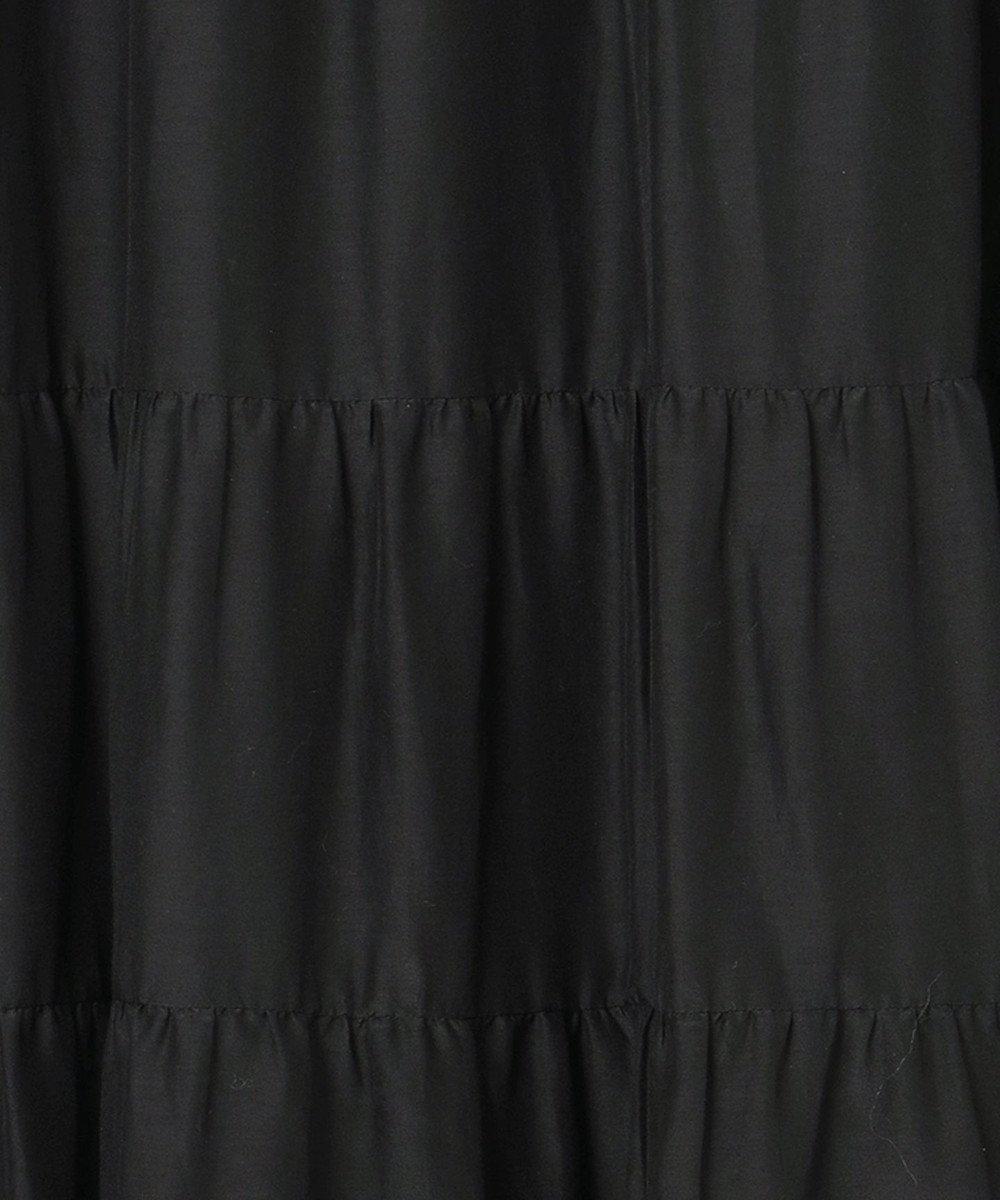 GRACE CONTINENTAL タフタロングティアードワンピース ブラック