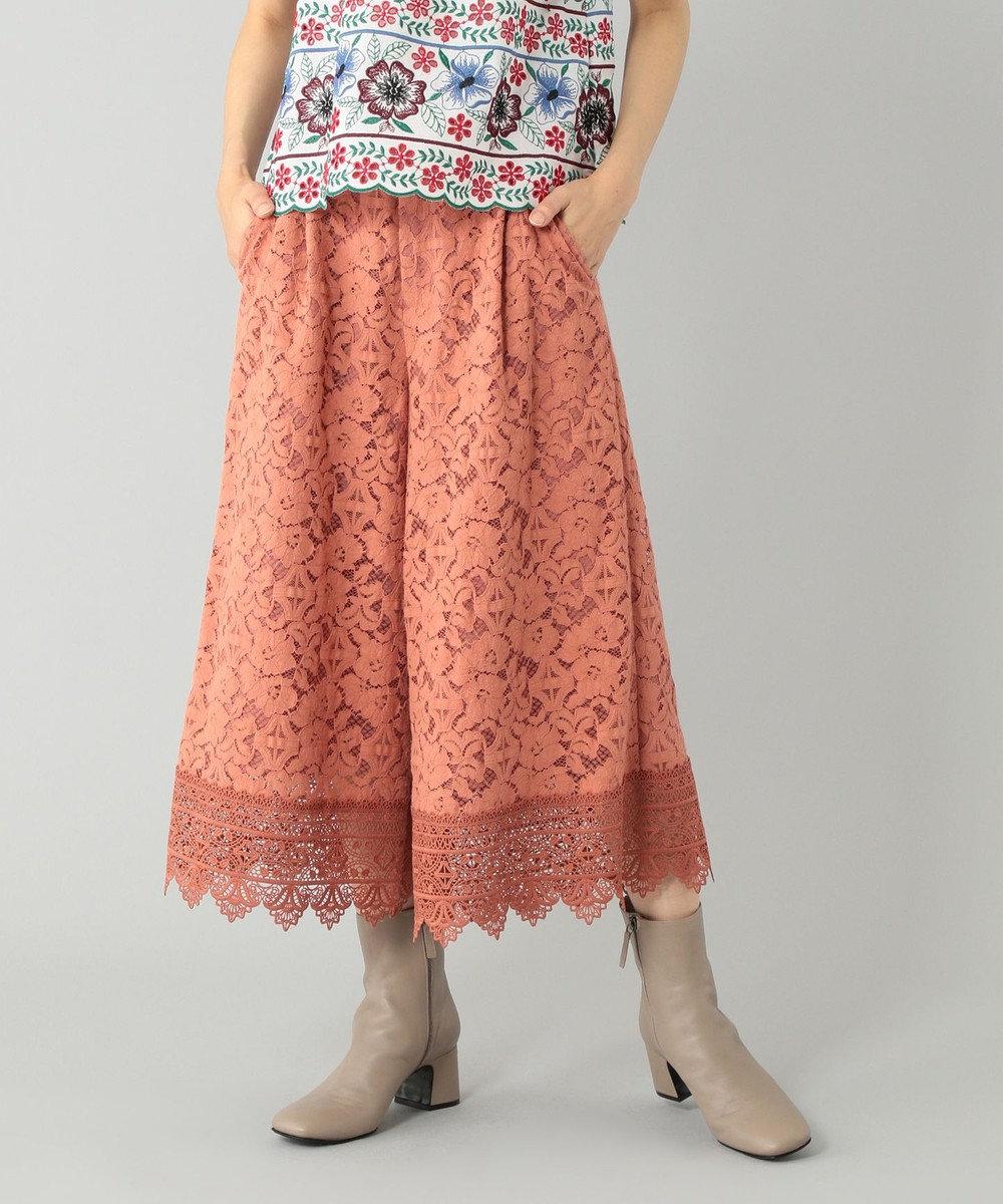GRACE CONTINENTAL レースガウチョパンツ ピンク