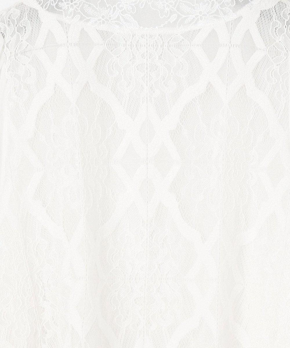 GRACE CONTINENTAL タイルレース刺繍切替トップ ホワイト