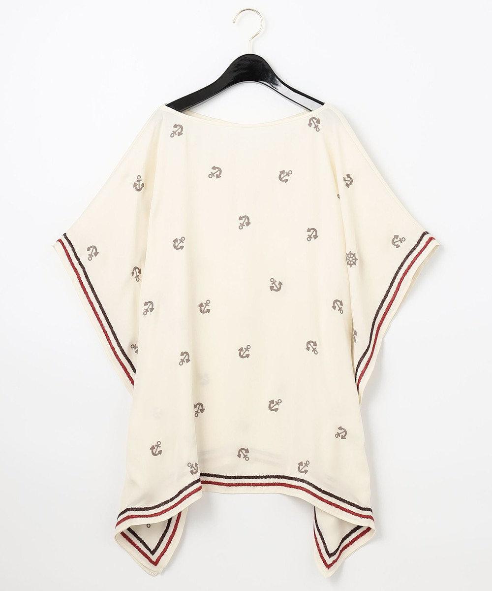 GRACE CONTINENTAL マリン刺繍ポンチョトップ キナリ