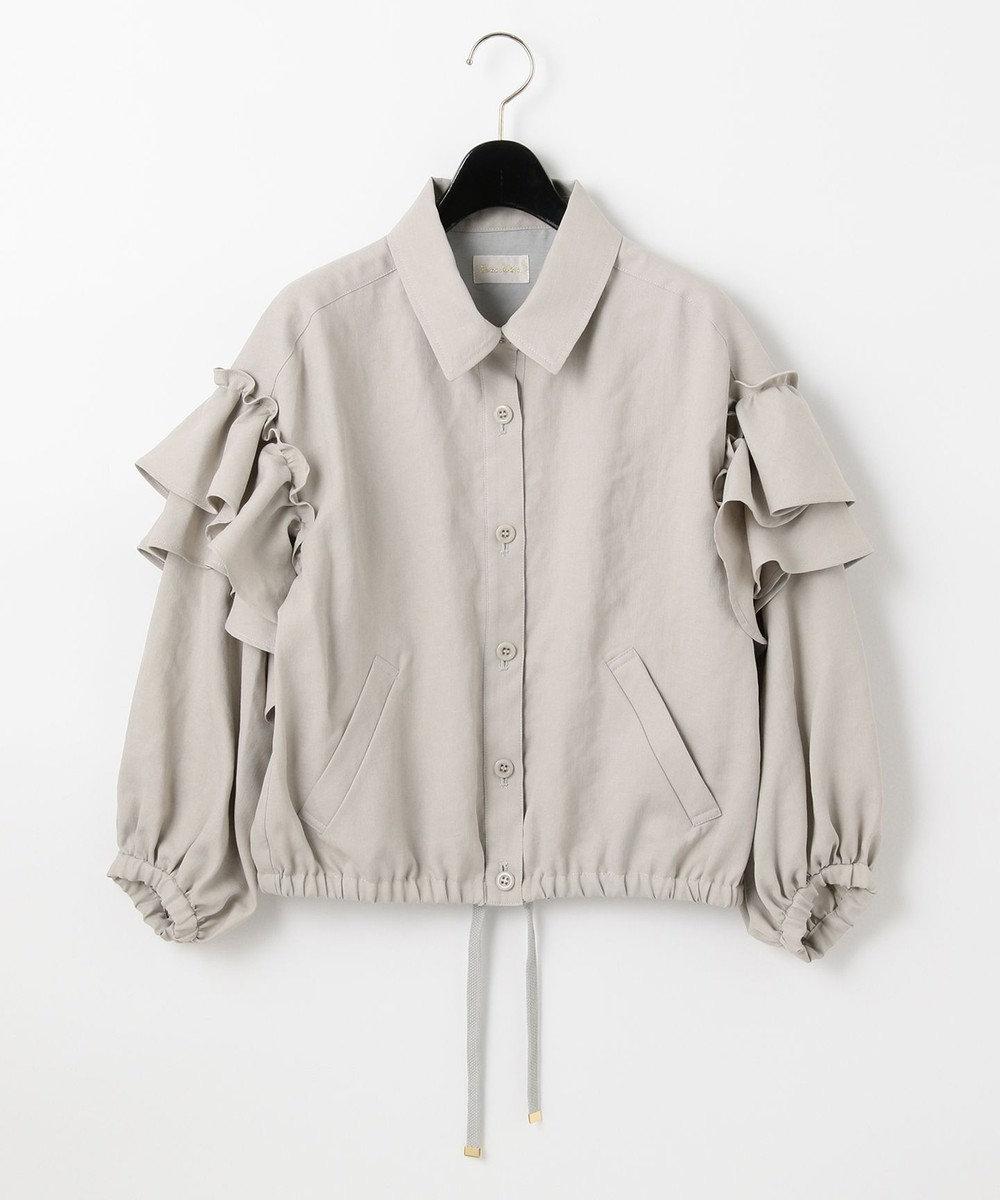 GRACE CONTINENTAL フリルシャツジャケット カーキ