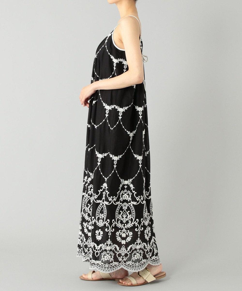 GRACE CONTINENTAL モスリン刺繍キャミドレス ブラック