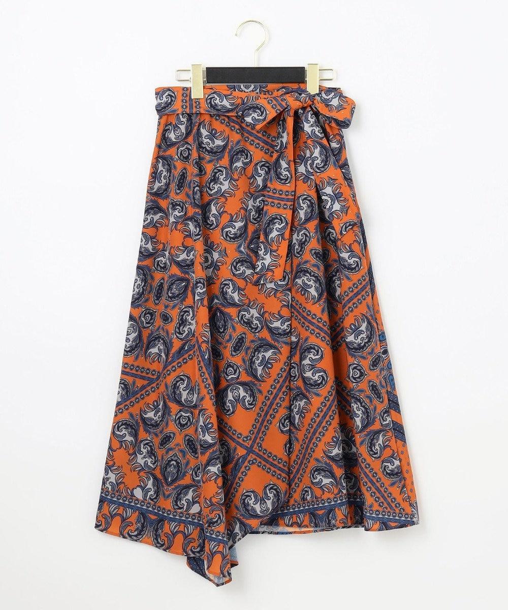 GRACE CONTINENTAL エスニックパターンスカート オレンジ
