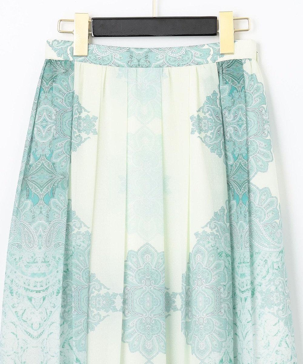 GRACE CONTINENTAL エスニックプリントマキシスカート グリーン