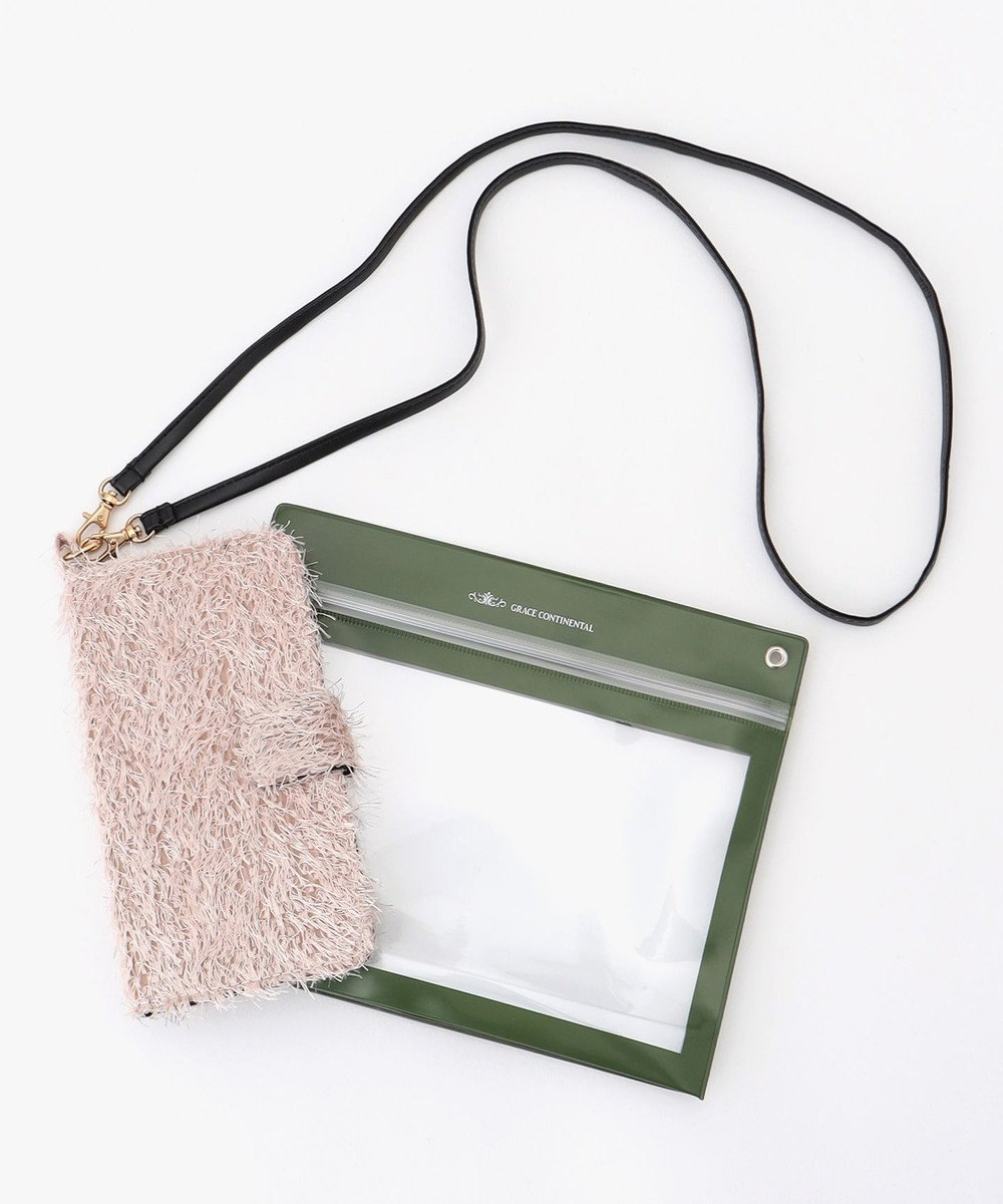 GRACE CONTINENTAL Fabricスマホケース ピンク