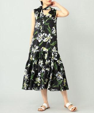 カサブランカプリントドレス