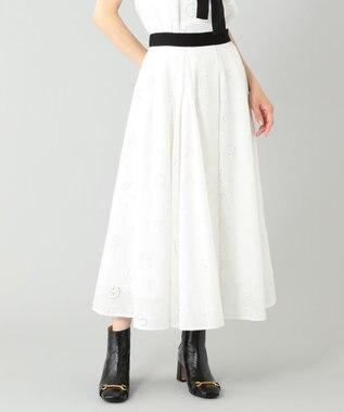 レタード刺繍フレアスカート