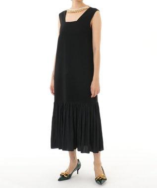 ネックレス付ティアードドレス