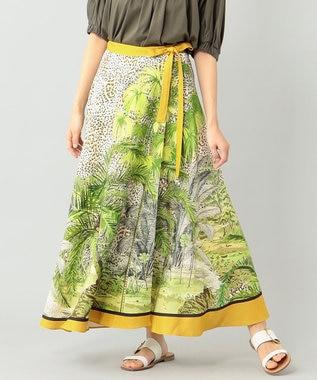 エキゾチックプリントスカート