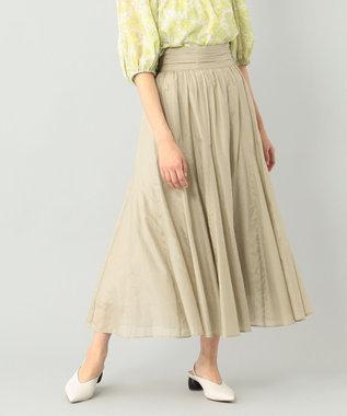 シルク綿フレアスカート