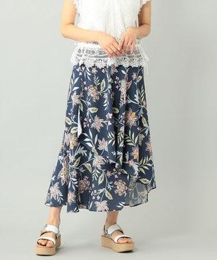 サラサペイントイレヘムスカート