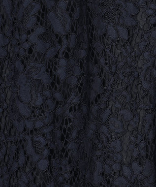 GRACE CONTINENTAL レースドレスシャツワンピース ネイビー