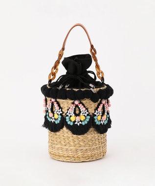 刺繍バスケットバッグ