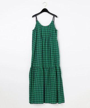 ギンガムジャガードキャミドレス