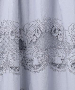 GRACE CONTINENTAL ダマスク刺繍ワンピース ブルー