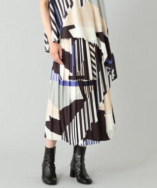 プリントキカプリーツスカート