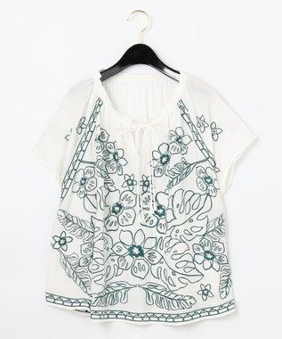 エスニック刺繍トップ