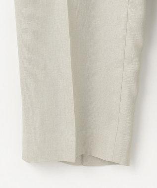 GRACE CONTINENTAL リネンタッチテーパードパンツ カーキ