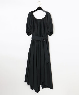 【LIFE STYLE WEAR】ベルト付カットソーワンピース