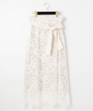 レースタックロングスカート