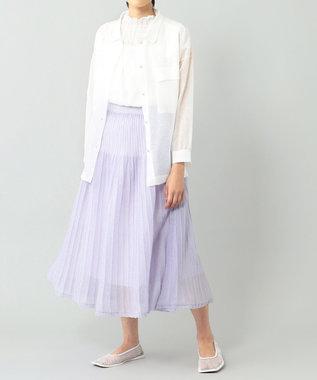 GRACE CONTINENTAL シアーニットスカート ラベンダー